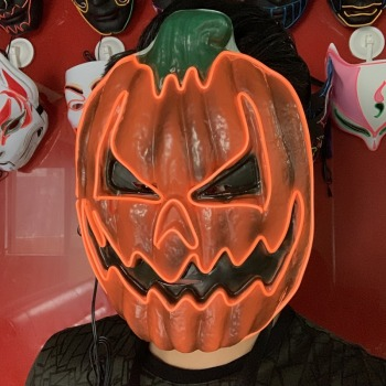Light Up Pumpkin Halloween Mask