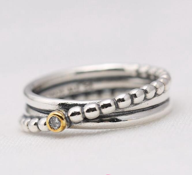 2017 high quality vintage 100% 925 sterling silver multi layer antique women silver rings