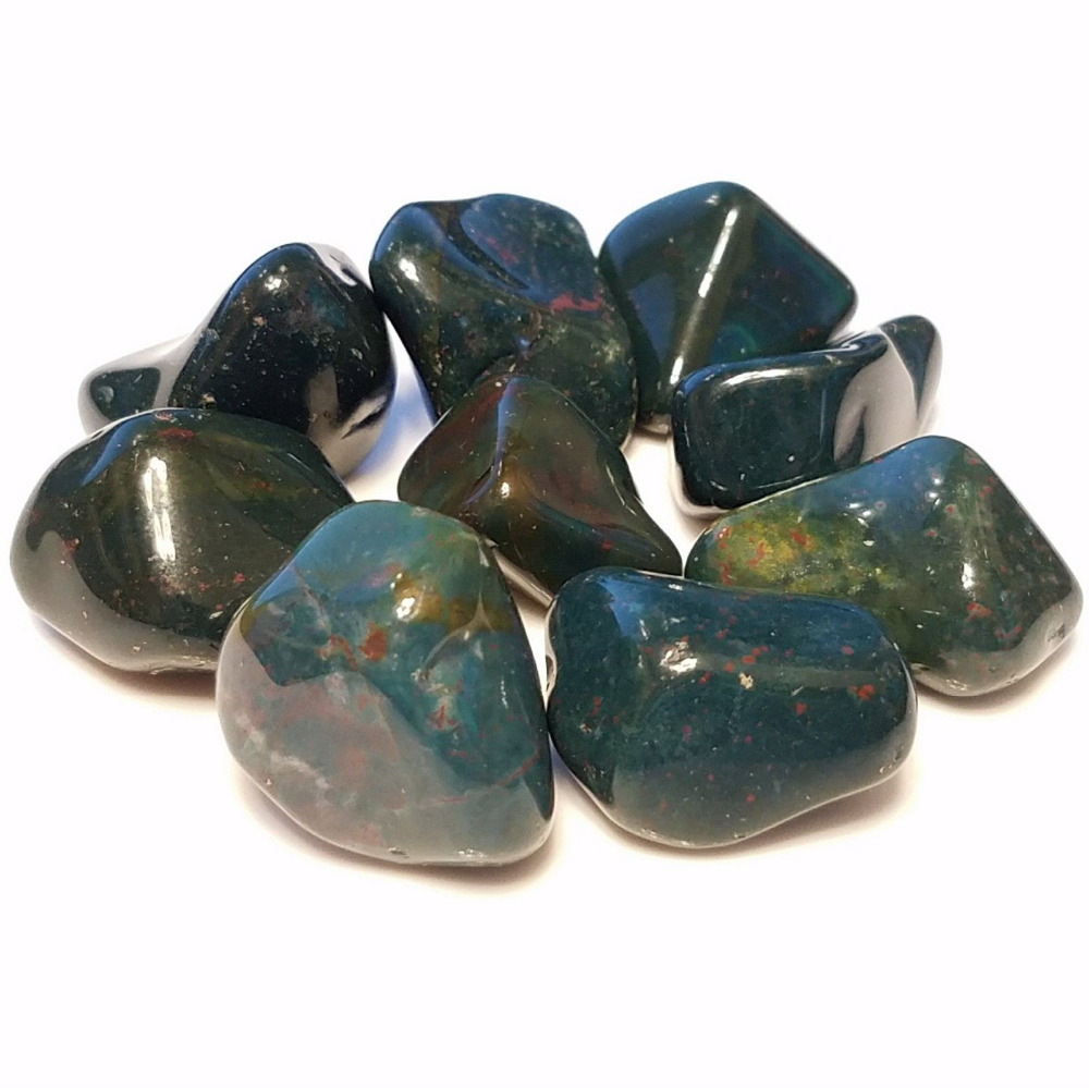 1/4 lb Bulk Tumbled Bloodstone Heliotrope mineral Stones South African