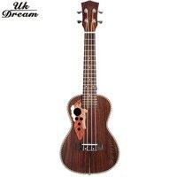 21 Polegada Rosewood Mini Violão Instrumento Musical Soprano Ukelele Ukulele Com Aquila Cordas de Ligação Guitarra Hawaii