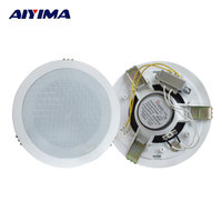 AIYIMA 1Pcs Audio Portable Speaker Ultra Thin 3 6W Constant Pressure Ceiling Speakers With Pure Copper