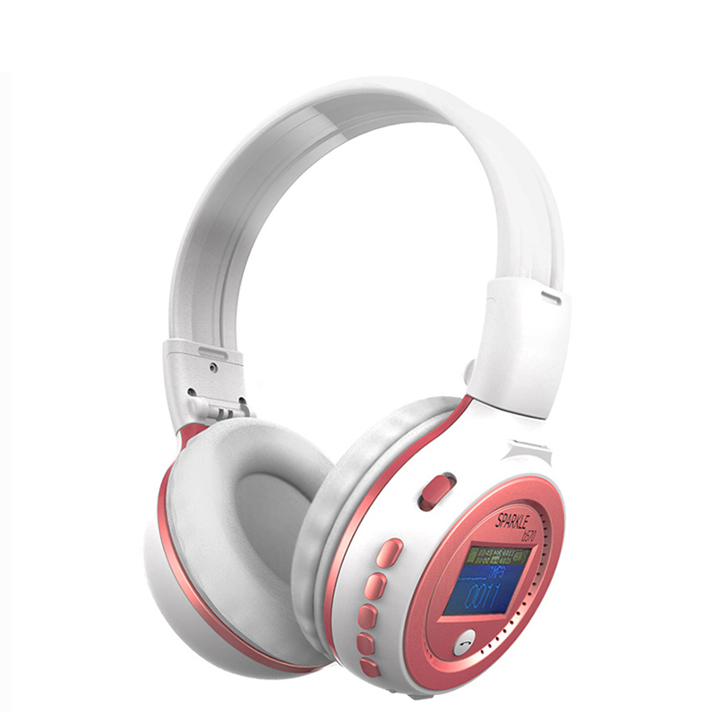 Zealot B570 Wireless Stereo LCD Bluetooth Headphone MP3 Headset Foldable FM/SD Card Headset with mirc For phone MP3 good quality original zealot b19 stereo wireless headset bluetooth headphone headband headset with fm tf led indicators for mp3