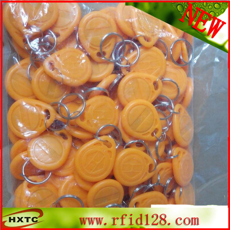 100PCS/Lot ABS 125Khz RFID ID Keyfob/Keychain Card/Tag/RF card With EM4100/TK4100 Chip For time and attendance