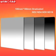 Градиентный квадратный фильтр нейтральной плотности 100 мм x 150 мм ND2+ ND4+ ND8+ ND16 100*150 мм для Lee Cokin Z series