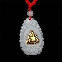 TJP 2018 New Arrival Stylish Fashion Jade Pendants For Men Women Buddha Necklaces Free shipping