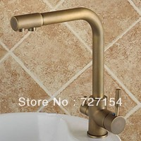 Free Shipping Classic Antique Bronze Spray Kitchen Faucet Basin Sink Faucet Mixer Tap Deck Mounted