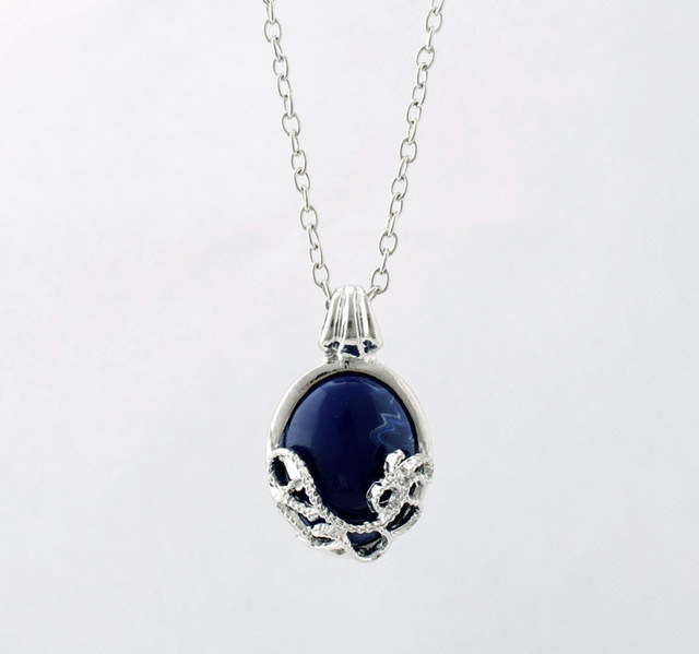 The Vampire Diaries  blue color cool pendant necklace