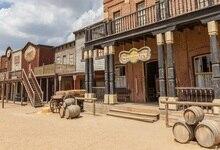 Laeacco Americano Cowboy Ocidental Bistro Cena Backdrops Para Estúdio de Fotografia Fotografia Fundos Fotográficos Personalizados