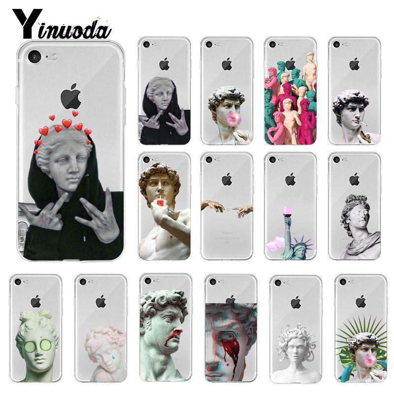 Yinuoda Alternative statue David art fashion Newly Phone Case for iPhone 8 7 6 6S Plus X XS MAX 5 5S SE XR 10 11 pro max
