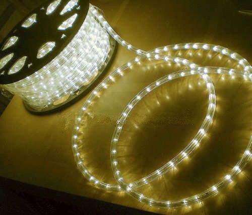 15CM WARM WHITE LED ROPE LIGHT OUTDOOR LIGHTS CHASING STATIC CHRISTMAS XMAS  110 240v(