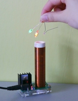 2017 NEW Mini Tesla Coil With Power Supply