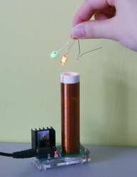 2019 NEW Mini Tesla coil With Power supply 9V 1A
