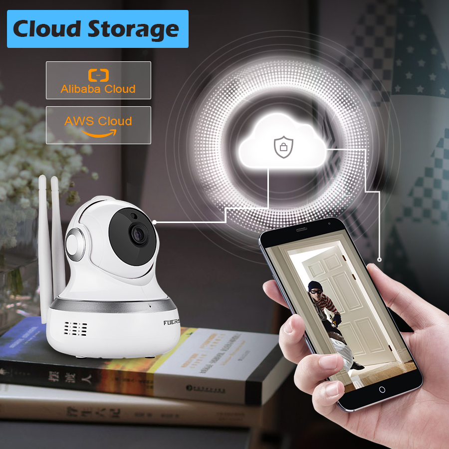 Fuers Cloud Storage 720P Ip Camera Wireless Wifi Wi-fi Video Surveillance Night Security Camera Network Indoor Baby Monitor