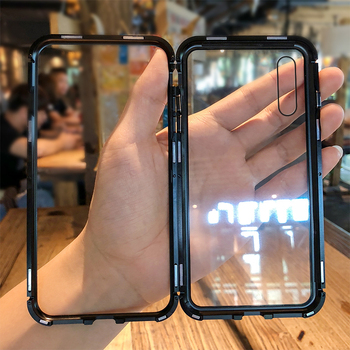 Magnética lujo caso de Huawei P20 Pro caso claro transparente cubierta de vidrio caso Huawei P 20 Pro caso P20pro coque