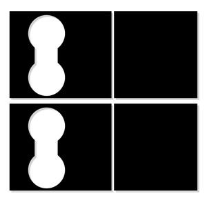 Image 3 - מכונית סט שחור קונסולת ויניל לעטוף כוס למעלה מרכז מדבקות עבור טסלה דגם 3 תפאורה