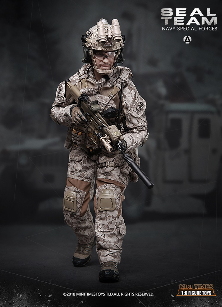 M012 Collections 1/6 Scale Full Set Solider Ratio US Army Navy Seal Special Forces Combat Team A  Action Figure Model Toys 1