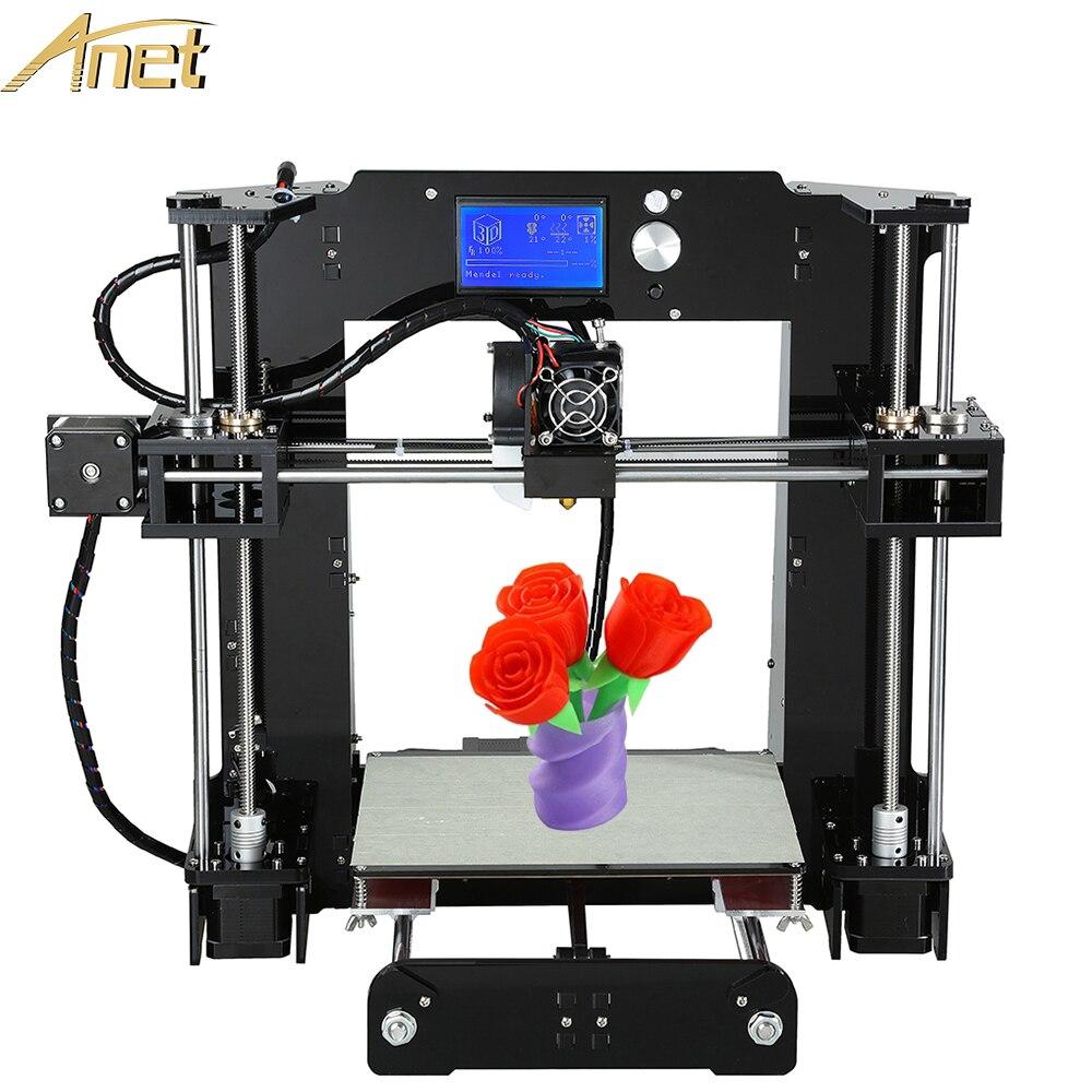 Anet 3d printer desktop easy assemble diy Reprap Prusa i3 3d Printer Kit DIY With Free Filaments Card Display LCD