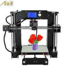 Анет A6 A8 3D принтер Наборы Desktop самостоятельно собрать RepRap Prusa i3 3D принтер комплект DIY с бесплатными нитей TF карты 12864LCD Дисплей