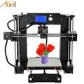 Anet desktop 3d impressora de fácil montagem diy kit de impressora reprap prusa i3 3d diy com filamentos livres cartão display lcd