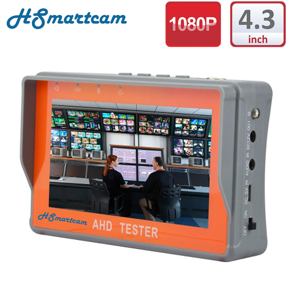 Mini CCTV 4.3 Two in one HD AHD Tester CCTV Tester Monitor AHD 1080P and Analog Camera Testing UTP Cable test 12V1A Output