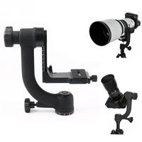 1/4 360 Degree Gimbal Clamp Tripod Ball Head for Photography DSLR Cameras