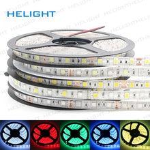 DC12V 5050 Светодиодные ленты светильник 5 м 300LED 5050 один Цвет/RGB/RGBW/WW IP65 & IP20 гибкие светодиодные фестиваль декоративный светильник