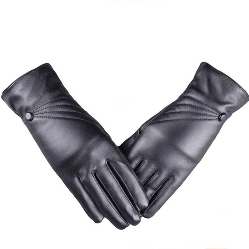 1 Pair Men Women PU Full Finger Mittens Waterproof Windproof Winter Warm Gloves Outdoor Gloves Touch Screen Gloves S10 SE12