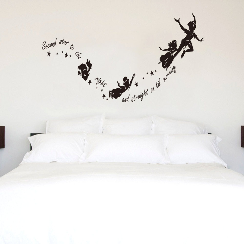 Tinkerbell diy second stars shild star variety witch peter pan tinkerbell diy second stars shild star variety witch peter pan wall decal sticker kids art mural in wall stickers from home garden on aliexpress amipublicfo Images