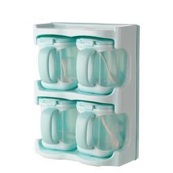 برطمان توابل صندوق توابل البلاستيك الملح الفلفل المطبخ كمون ناعم زجاجة تخزين رف شفاف واضح طاقم توابل أدوات