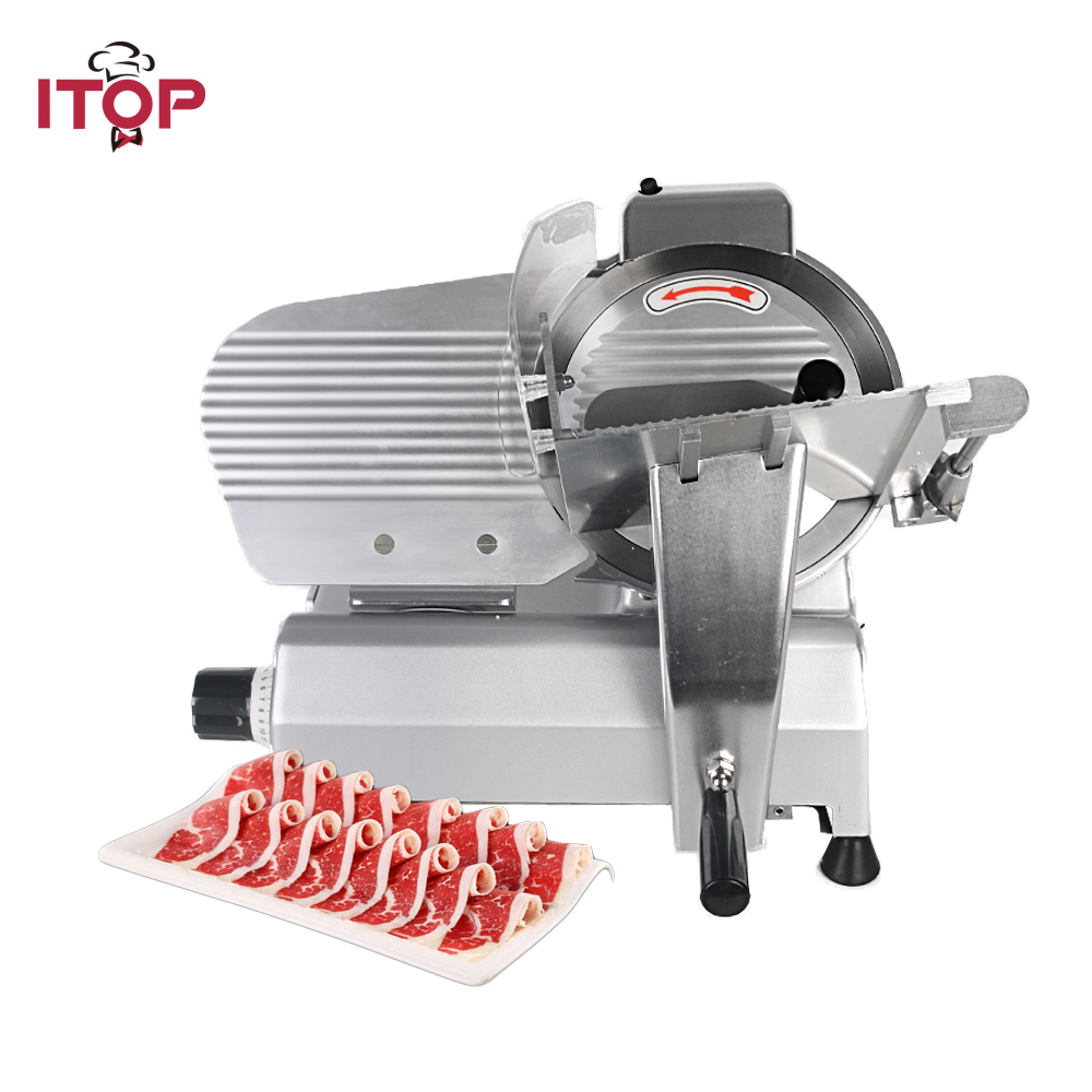 ITOP Commercial Electric Meat Slicers 0-10 Adjustable Thickness Frozen Beef Mutton Roll Stainless Steel Mincer 110V/220VITOP Commercial Electric Meat Slicers 0-10 Adjustable Thickness Frozen Beef Mutton Roll Stainless Steel Mincer 110V/220V