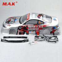 1:10 RC Car Parts 1/10 RC Body Shell Painted PVC and Light Cup and Rear Wing On Road Drift Car 190MM