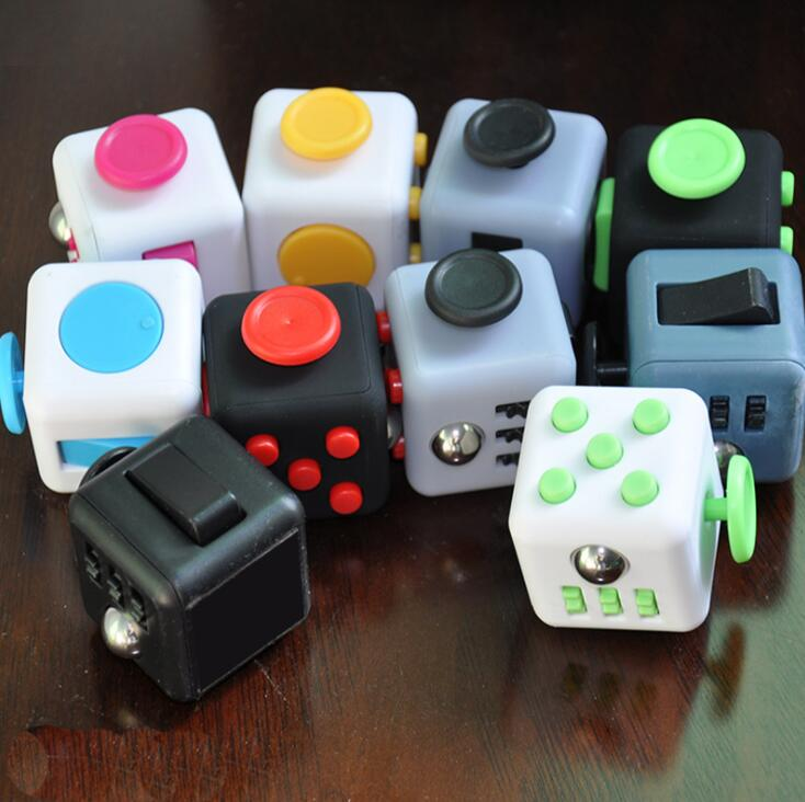 Magic Cube Anxiolytic Stress Relief Toys Fun Decompression Cube Toy 11 Colors Children Gifts