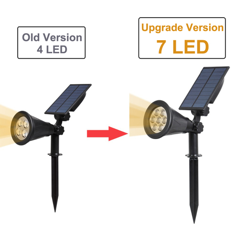 kh litec 2 pacote solar holofotes 7 luzes