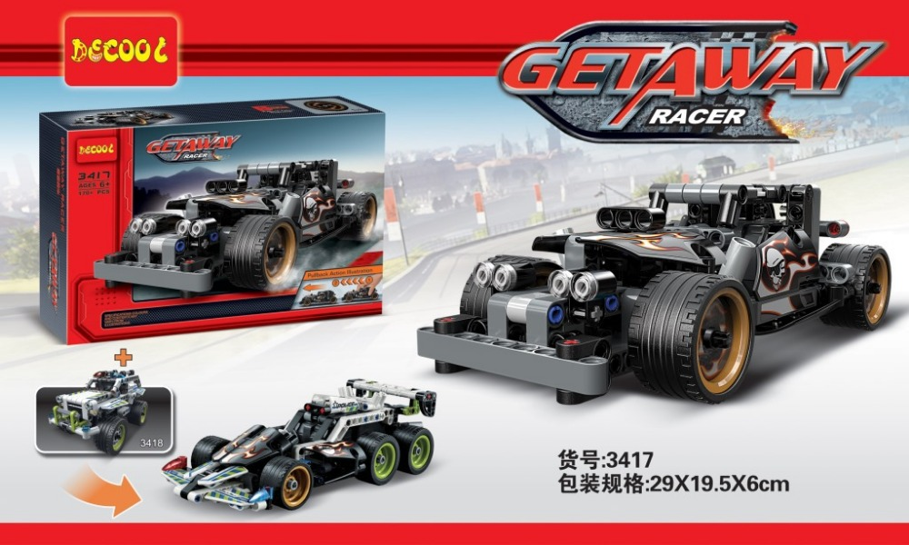 Decool 3417 Technic series GETAWAY RACER Building Block Educational Car Model DIY Bricks Baby Toys - Education toy Store store