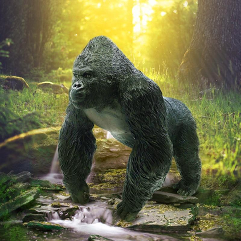 Kong: crâne île Simulation gorille colle souple dessin animé Animal sauvage Action figurine Collection modèle jouet X636 - 3