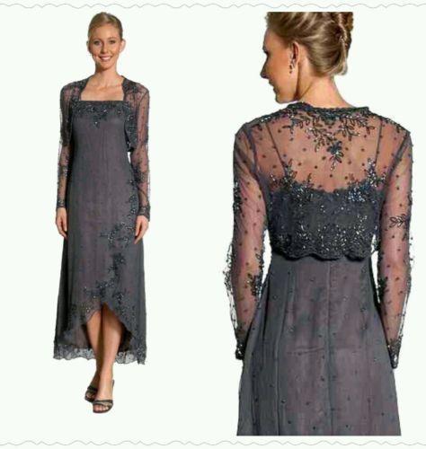 7b301cd647 new fashion Mother of Bride Dresses 2017 mother evening dress with jacket  beadings Groom Mother Dress Vestido mae da Noiva