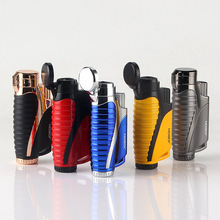 3 Tubes Jet Butane Lighter Metal Spray Gun Torch Turbo 1300 C Fire Windproof Pipe Cigar Lighter Cigarette Accessories