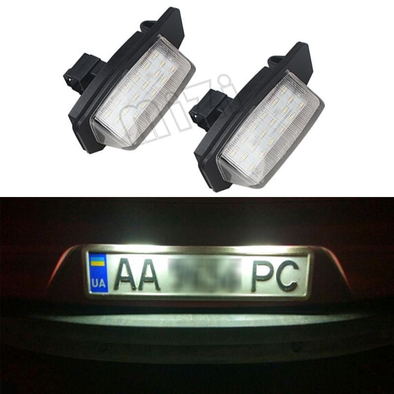 1 Pair 18LED For Mitsubishi OUTLANDER 11/2006-8/2009/ OUTLANDER XL(CW) 2006-2012 Car License Plate Lamp Auto Part accessories for mitsubishi outlander 2005 2006 rear trunk security shield cargo cover high qualit black beige car auto accessories