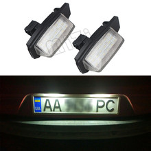 1 Pair License Plate Lamp 18 LED For Mitsubishi OUTLANDER 11/2006-8/2009/ OUTLANDER XL(CW) 2006-2012 Car Auto Part accessories(China)