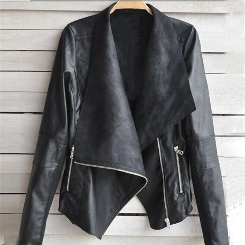 eddaa375d Black Jackets Women Long Sleeve Autumn Winter Basic Coats 2017 ...
