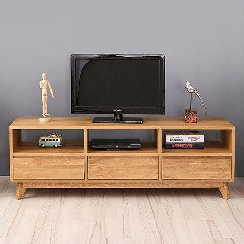 Escandinavo estilo japonés moderno mueble TV madera maciza IKEA TV ...