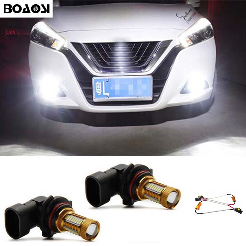BOAOSI 2x 9006/HB4 4014 32smd LED canbus Fog Lights No Error For Lexus IS 200,250,300 2007+ boaosi 2x 9006 hb4 led canbus bulbs reflector mirror design for fog lights for bmw e63 e64 e46 330ci car styling