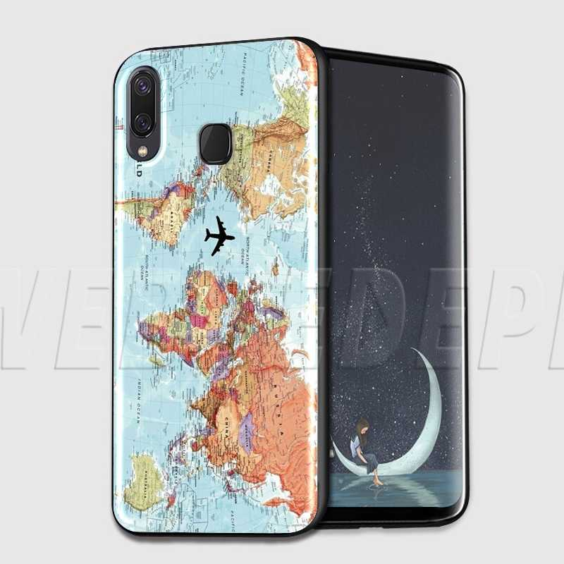 WEBBEDEPP Bản Đồ Thế Giới Du Lịch Kế Hoạch TPU Mềm dành cho Samsung Galaxy Note 8 9 S6 S7 S8 S9 S10 S10e edge Plus