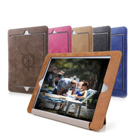 For Ipad Air 2 Ipad6 Retro Briefcase Hand Belt Holder Leather Case For Apple ipad 6 Air2 PU Stand Flip Bags Cover Fundas Coque