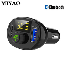 Car FM Transmitter Bluetooth Wireless Handsfree Radio Music MP3 Player Kit Launcher QC3.0 3.4A USB Fast Charger