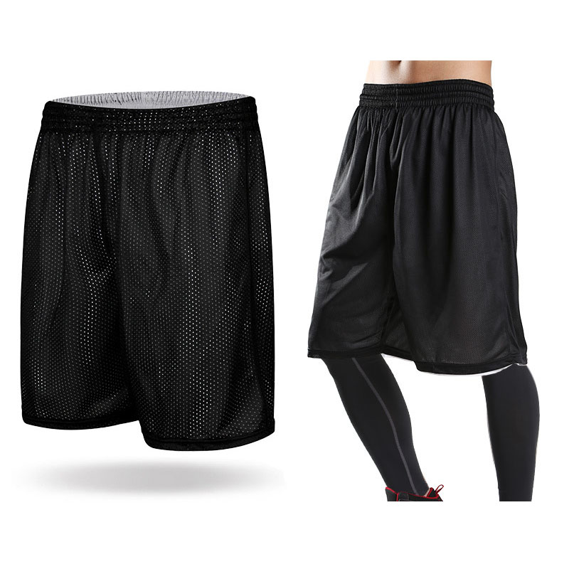 HOT 2018 indoor summer Loose shorts men fitness Mesh beach quick-drying breathable large leg short ultralight Joggers shorts ...