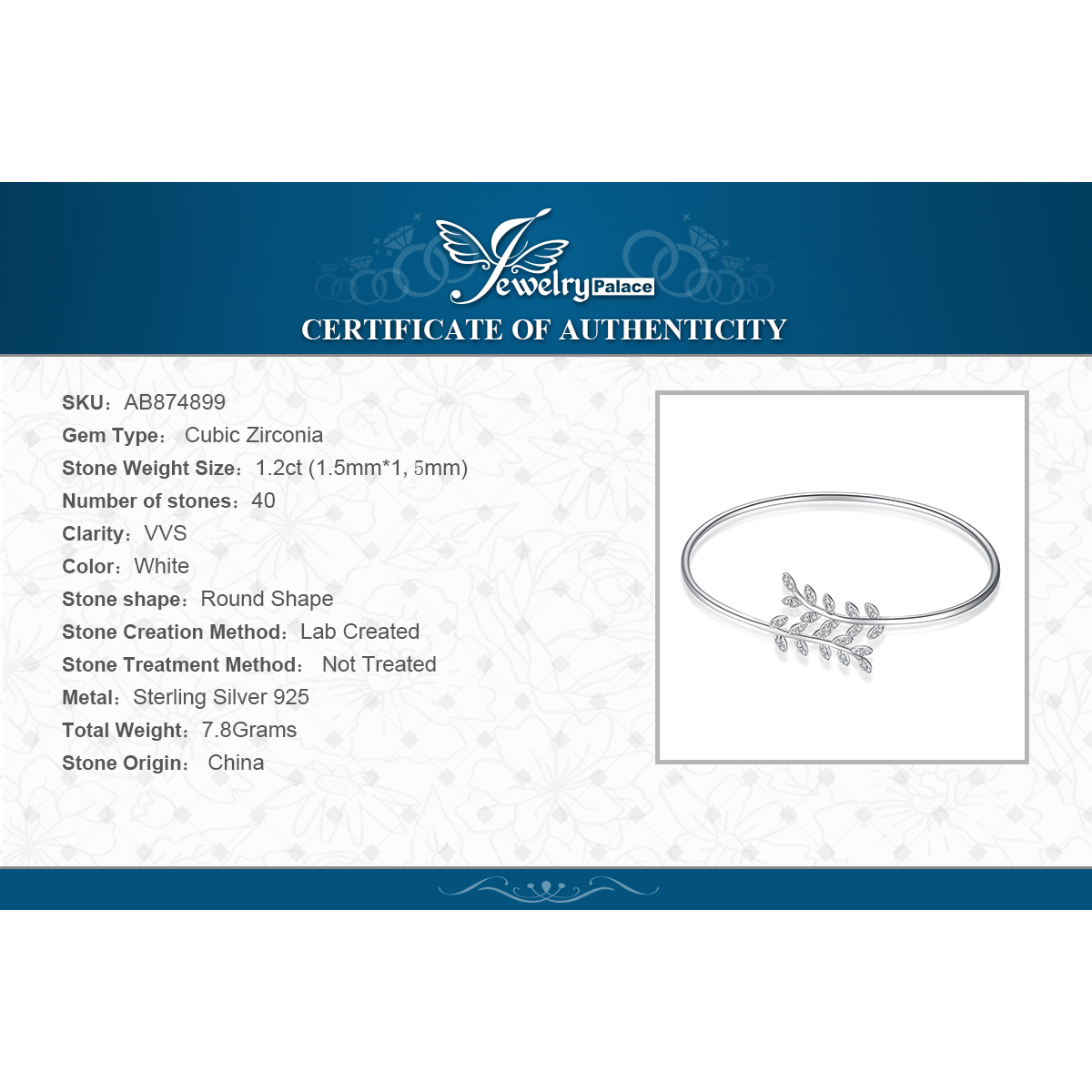 JPalace Crown Leaf Silver bracelet 925 Sterling Silver Cuff Bangles Bracelets For Women Silver 925 Jewelry Making Organizer in Bangles from Jewelry Accessories