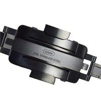 Хохлатая натуральная ссылка браслет ремешок для Apple watch группа 42 мм/38 мм Нержавеющаясталь ремешок для iwatch 3/ 2/1 Примечание Описание