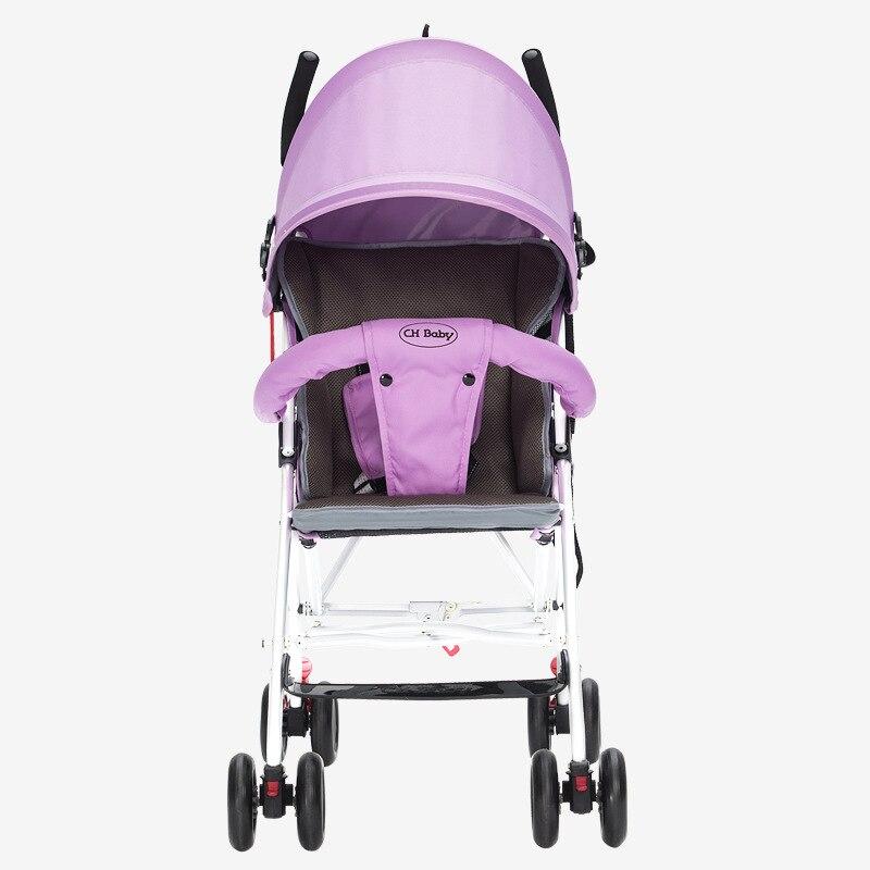 CHBABY Stroller Ultra Lightweight Breathable Folding Baby Stroller Dual Summer And Winter Childrens Cart Aluminum Umbrella Car