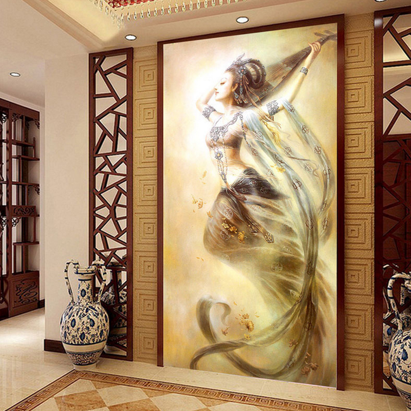 DMC counted chinese cross stitch kits for embroidery landscape cross stitch printed on canvas art picture 73x120cm